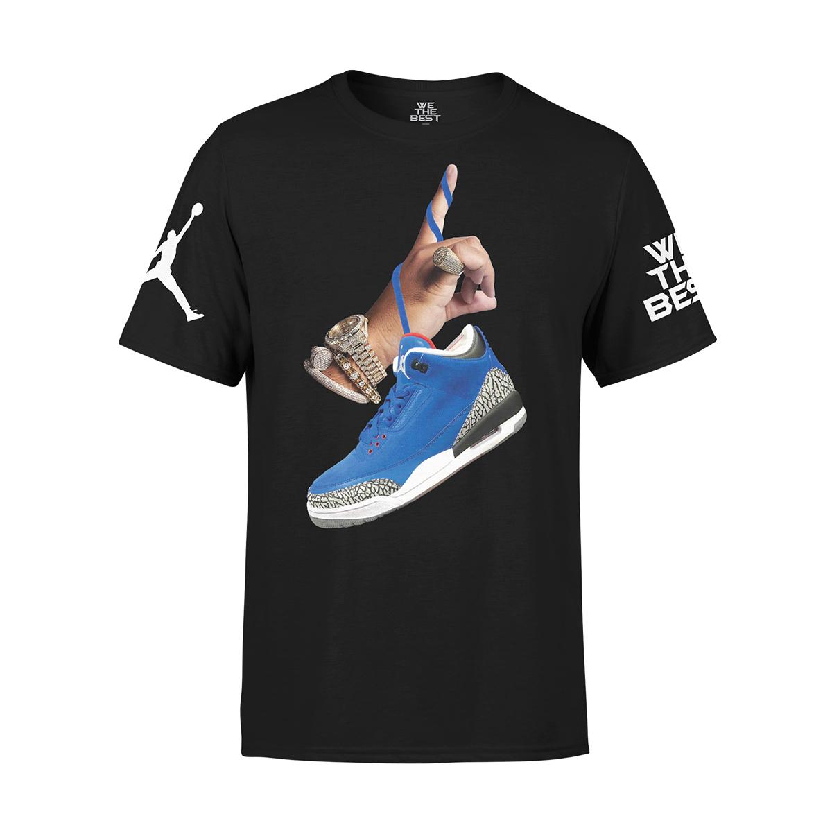 DJ Khaled x Jordan Suede Sneakers T-shirt - Black