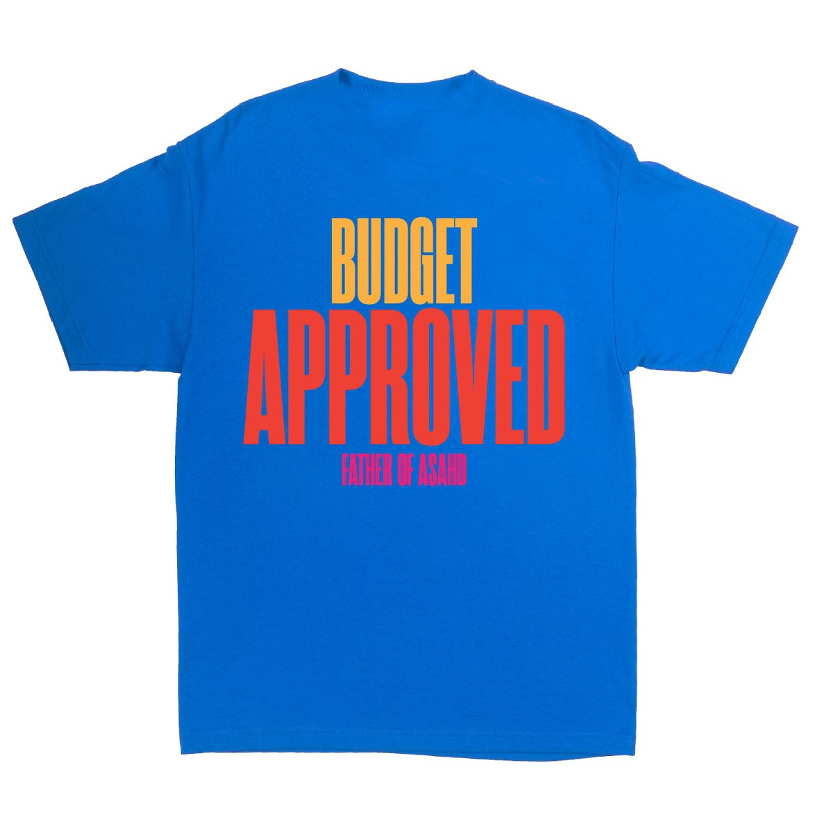 """Father of Asahd """"Budget Approved"""" Blue T-Shirt"""