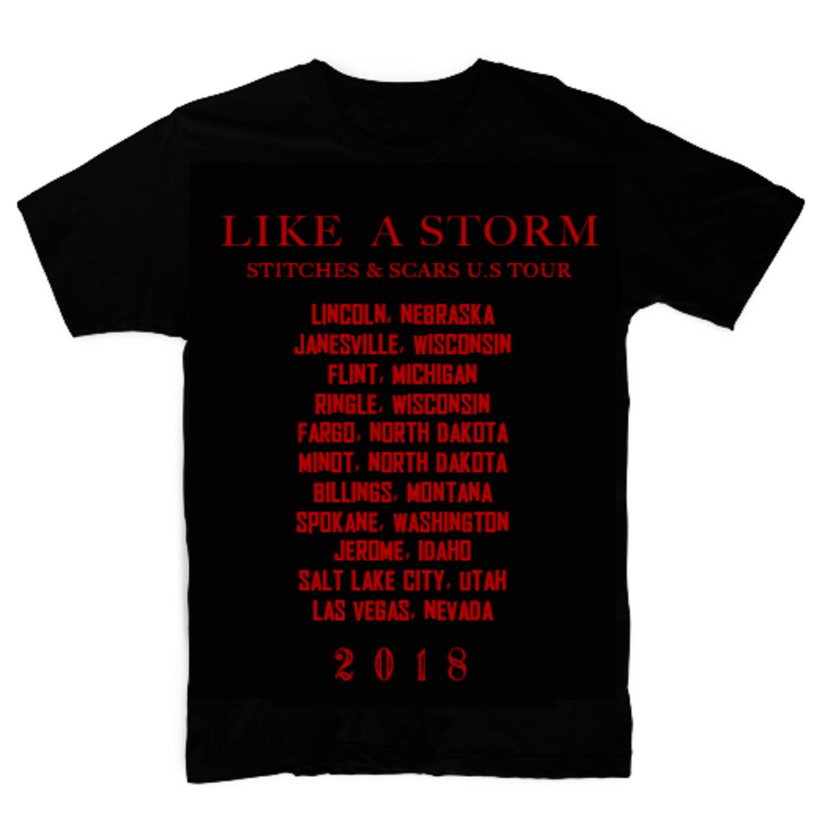 Like A Storm - Mask Tour Black T-shirt