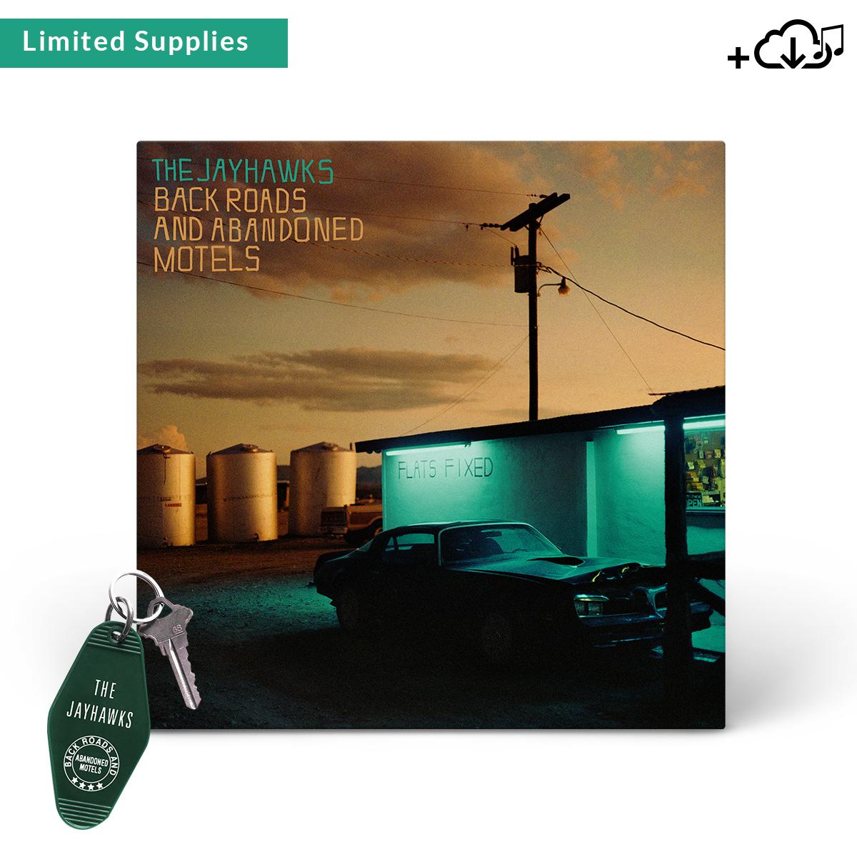 Jayhawks Green Key Fob + Back Roads and Abandoned Motels Album