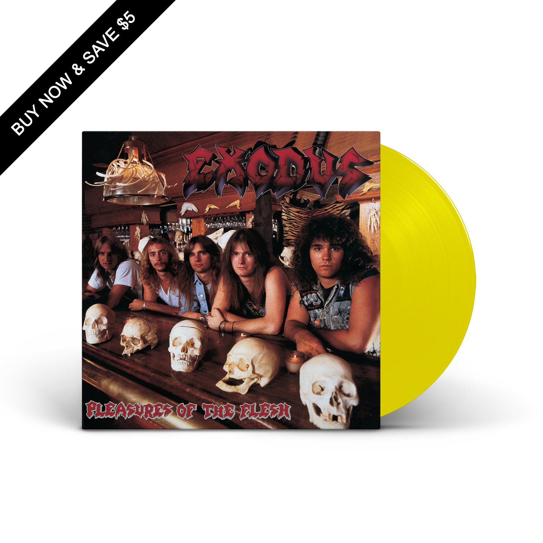 Exodus - Pleasures Of The Flesh Translucent Highlighter Yellow LP