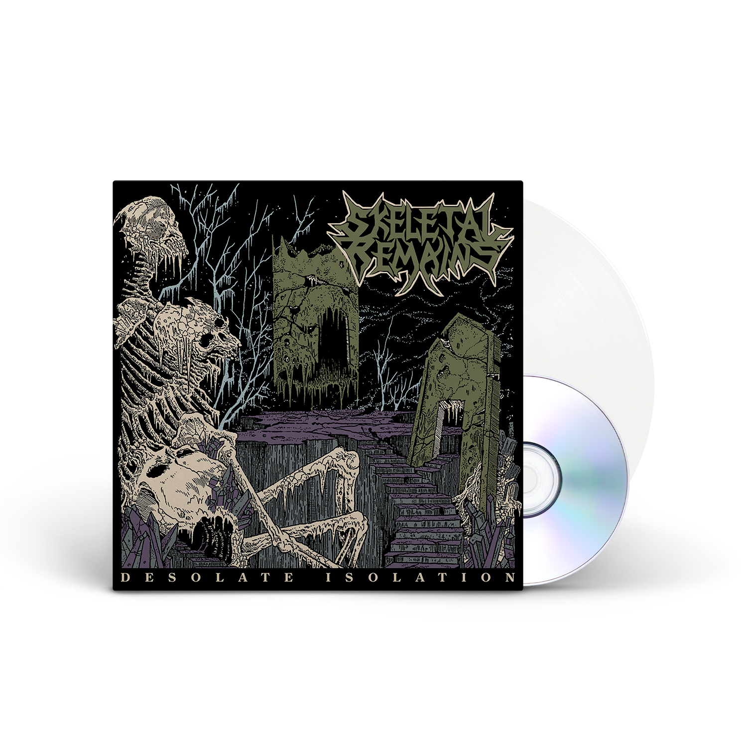 Skeletal Remains - Desolate Isolation - 10th Anniversary Edition Ultra Clear Vinyl LP + CD