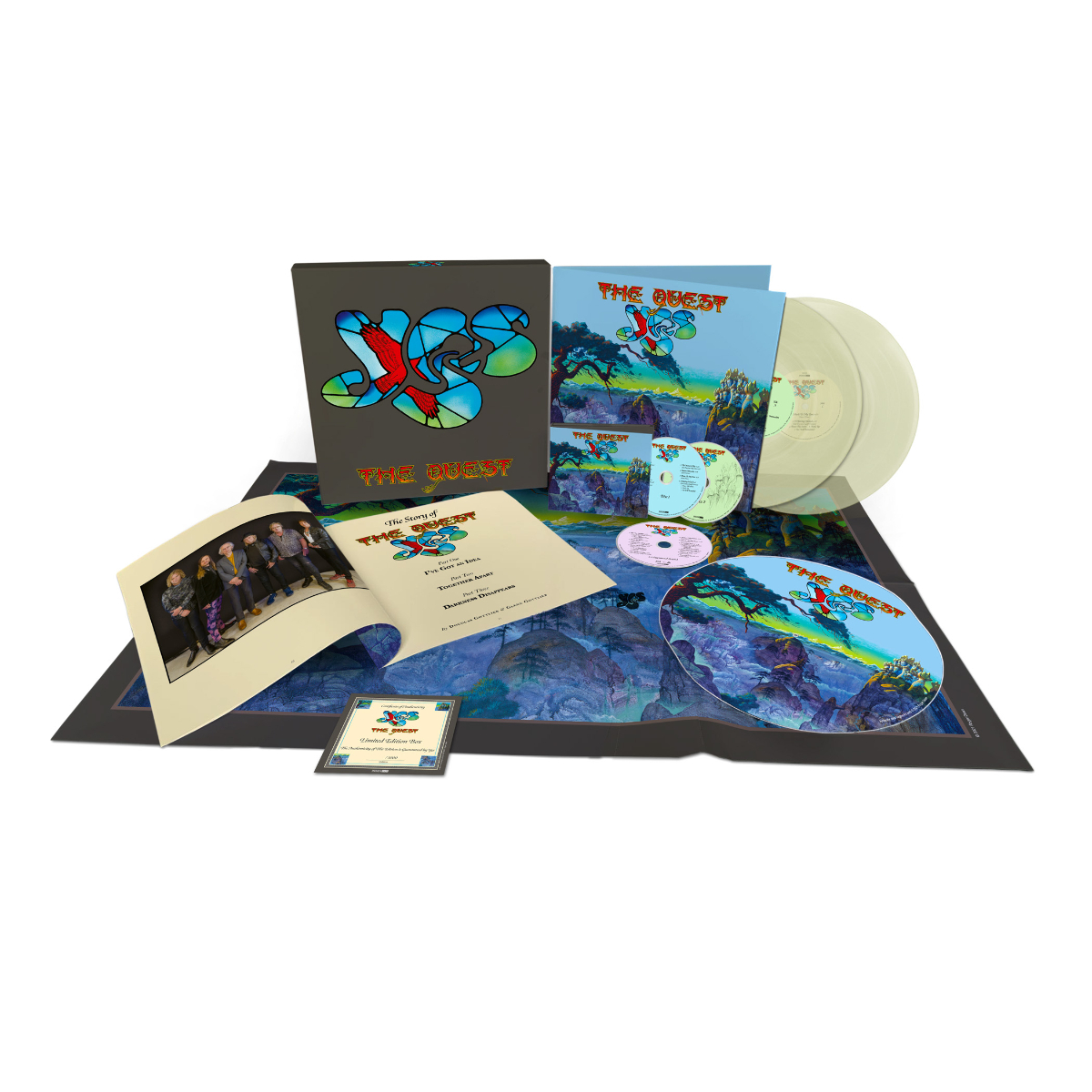 Yes - The Quest Glow in the Dark Green 2LP + 2CD + Blu Ray + Digital Download