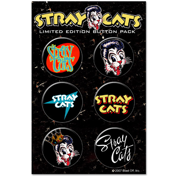 Stray Cats Button Pack