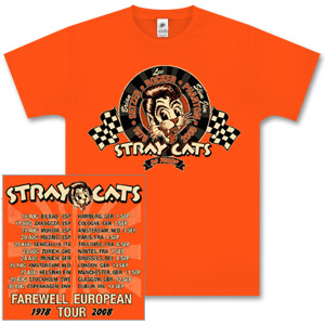 Stray Cats - Racing Cat Orange T