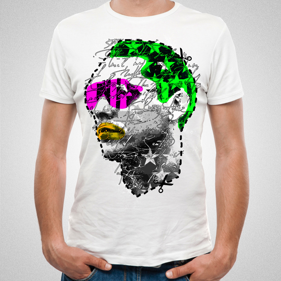 Tiesto - Neon Colors White T-Shirt