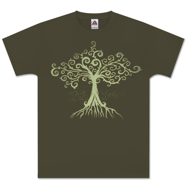 Dark Green Root Men's T-Shirt