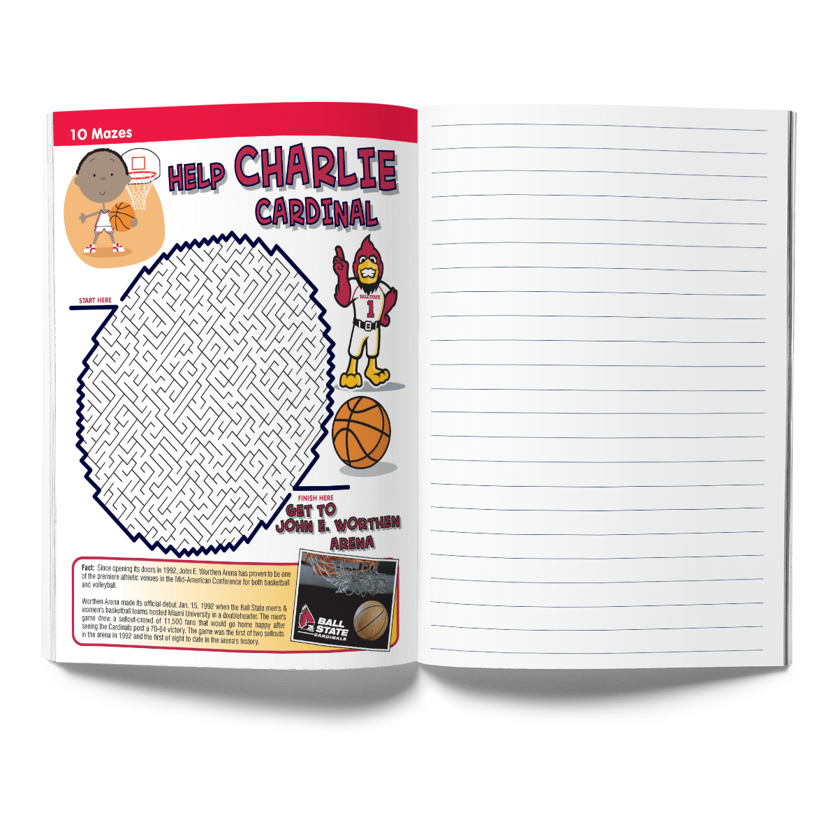 Ball State Cardinals Activity Book