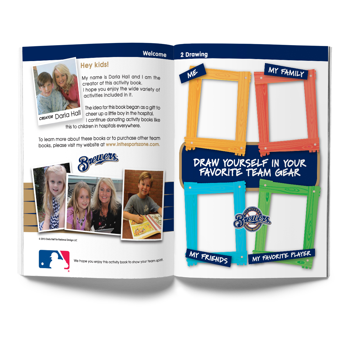 Milwaukee Brewers Activity Book