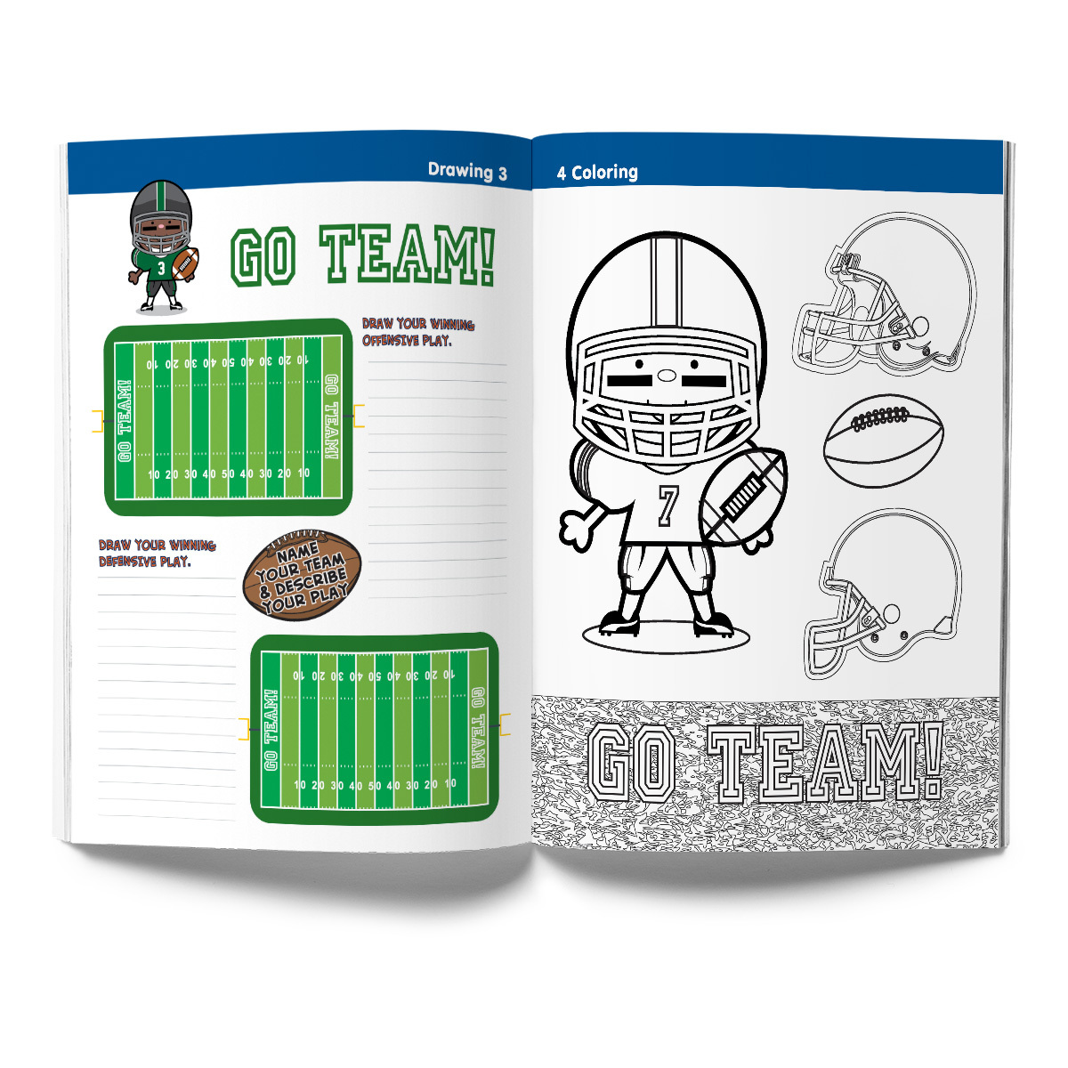 Football Activity & Coloring Book