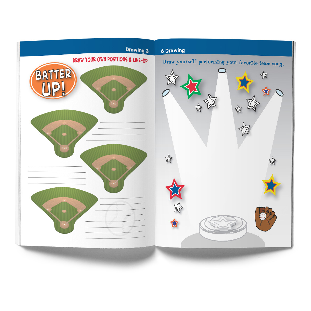 Baseball Activity & Coloring Book