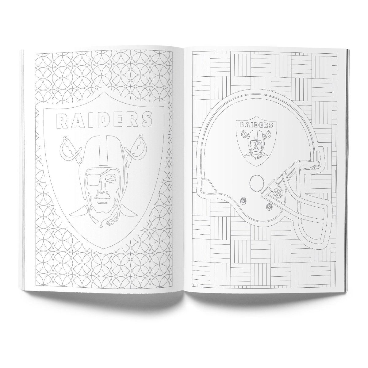 Oakland Raiders Adult Coloring Book
