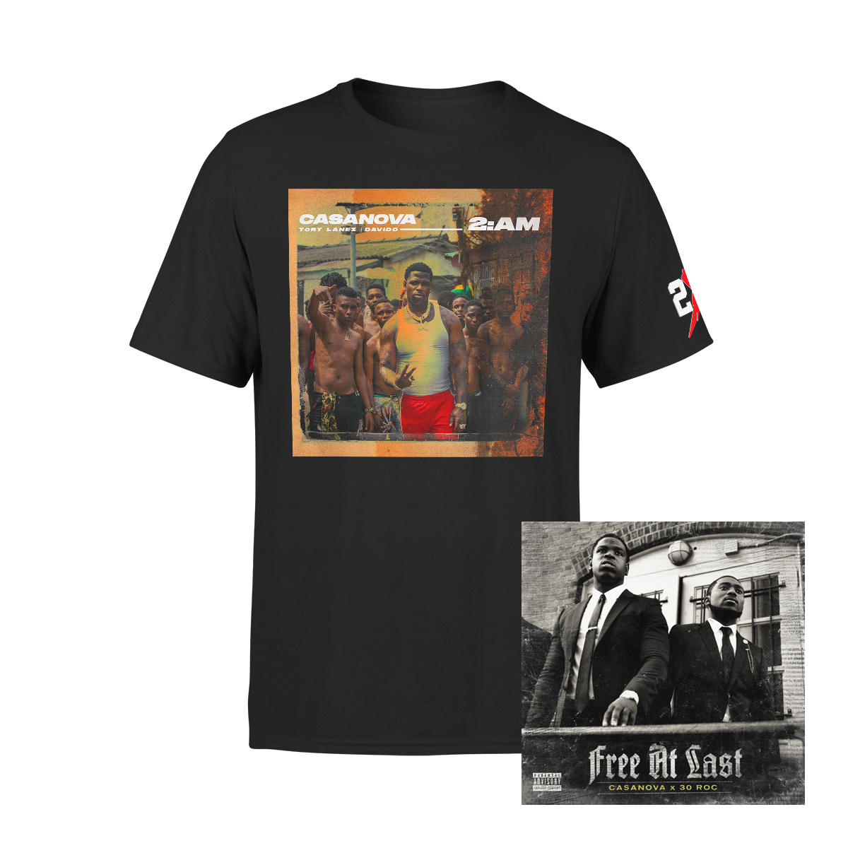 Free At Last Album + Casanova 2AM Black T-shirt