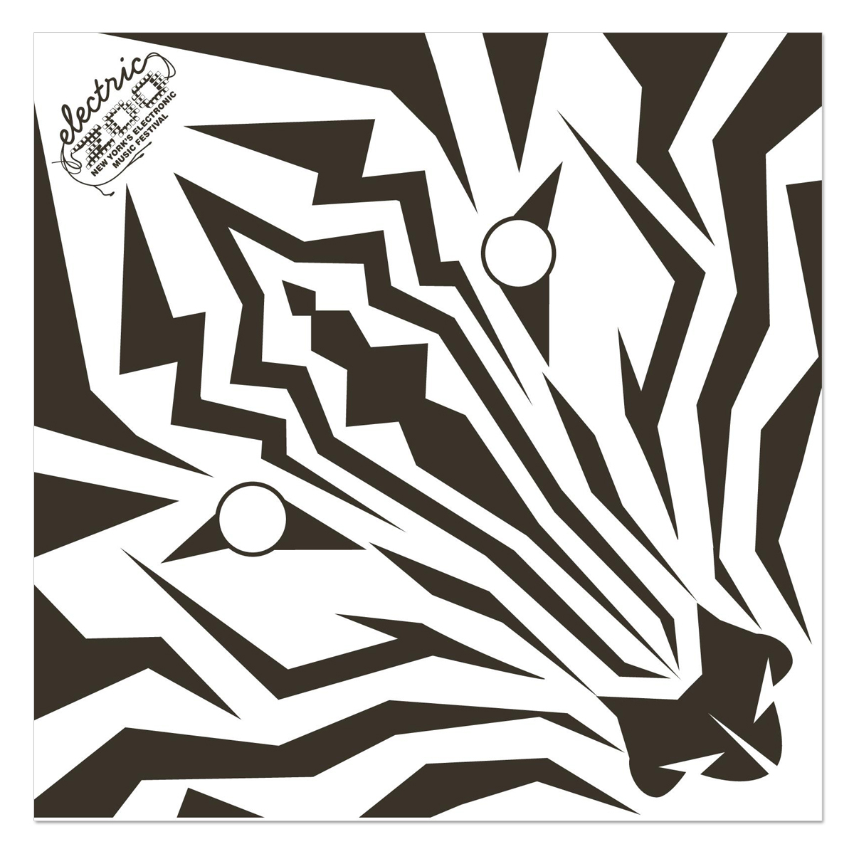 Electric Zoo Zebra Bandana