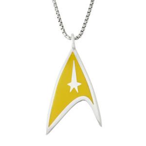 Star Trek Rocklove Delta Enamel Pendant Command In Silver