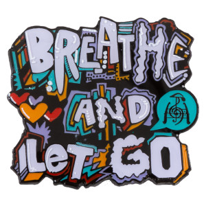Breathe and Let Go Pin - White Variant