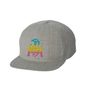 Heather Grey Flat Bill Snapback Hat