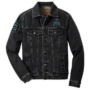 Breathe and Let Go Denim Jacket