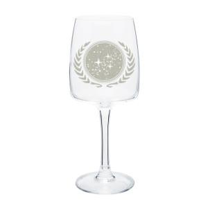 Star Trek United Federation of Planets Wine Glass