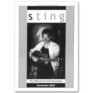 Sting November 2002 newsletter