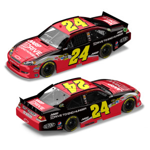 Jeff Gordon #24 2012 Drive To End Hunger 1:24 Scale DieCast