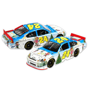 Jeff Gordon 2011 Sam Bass Holiday AUTOGRAPHED 1:24 Scale DieCast