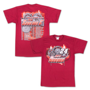 Jeff Gordon - Chase Authentics  Adult 2015 Schedule Tee