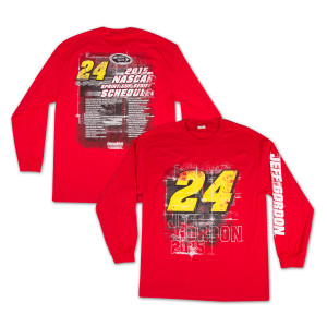 Jeff Gordon  - Driver 2015 Schedule Tee LS
