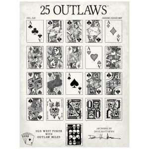25 Outlaws Card Poster