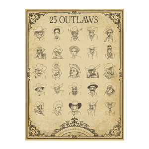 25 Outlaws Character Poster