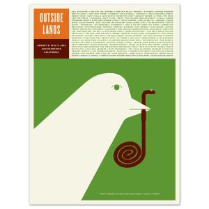 2013 Outside Lands Festival Poster by Jason Munn