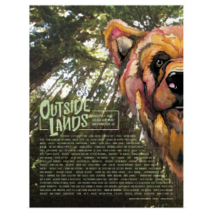 Outside Lands 2016 Sutro Stage Scrim Poster By Rachael