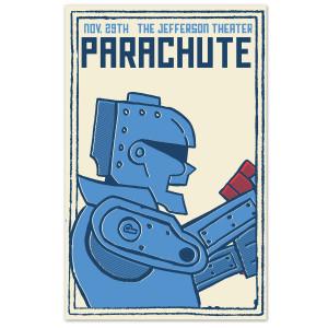Parachute The Jefferson Theater Blue Robot Poster
