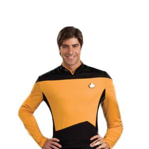 Star Trek The Next Generation Operations Uniform Gold - Small
