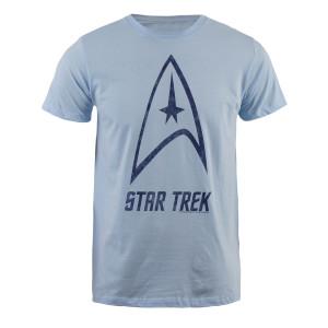 Star Trek Distressed Logo T-Shirt In Blue - Small