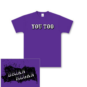 Brian Regan You Too Purple Youth T-shirt
