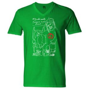 Jeff Bridges Christmas Green V-Neck T-shirt - Men's
