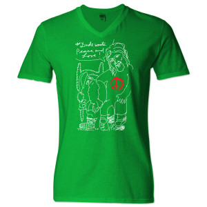 Jeff Bridges Christmas Green V-Neck T-shirt - Women's