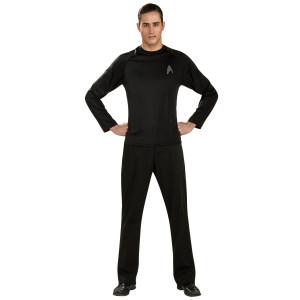 Star Trek Into Darkness Off-Duty Uniform Costume In Black - Extra Large