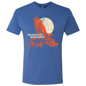 Heartless Bastards Hawk Tee - Blue