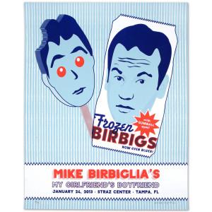 Mike Birbiglia Frozen Birbigs Poster - Tampa, FL 1/24/13
