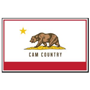 Cam Country Flag Sticker