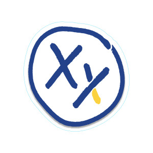 XX Logo Sticker