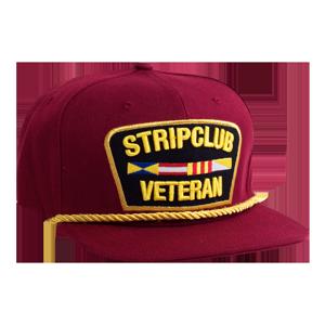 Strip Club Veteran Snapback - Red