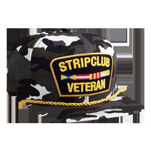 Strip Club Veteran Snapback - White Camo