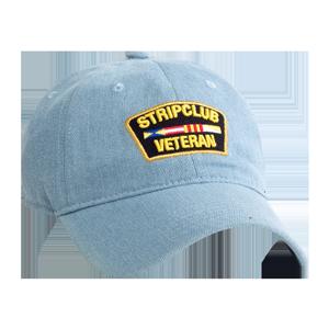 Strip Club Veteran Dad Hat - Denim