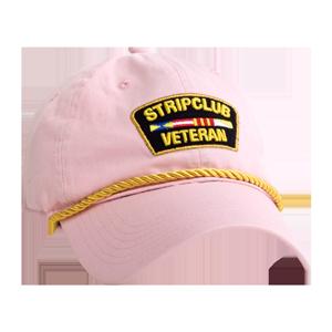 Strip Club Veteran Dad Hat - Pink
