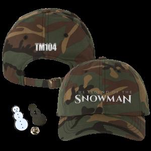 TLOTS Camo Dad Hat, Snowman Enamel Pin & TM104 Digital Download