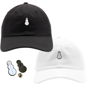 Classic Snowman Dad Hat, Snowman Pin & TM104 Digital Download