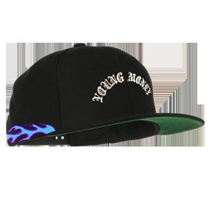 Blue Flamethrower Snapback Hat